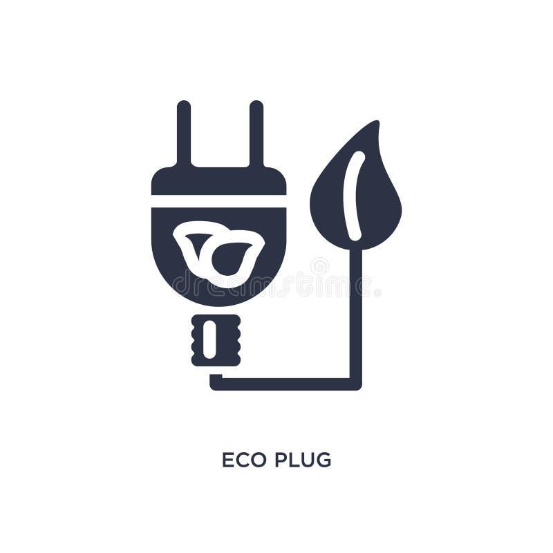 het pictogram van de ecostop op witte achtergrond Eenvoudige elementenillustratie van ecologieconcept vector illustratie