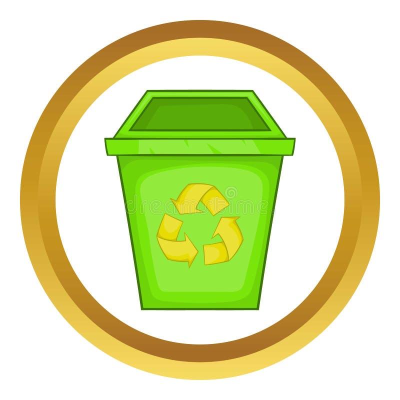 Het pictogram van de Ecovuilnisbak royalty-vrije illustratie