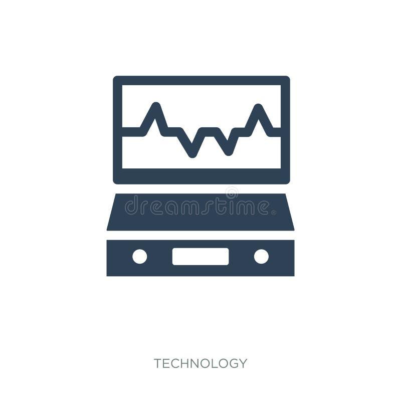 het pictogram van de elektrocardiogramlijn in in ontwerpstijl het pictogram van de elektrocardiogramlijn op witte achtergrond wor royalty-vrije illustratie