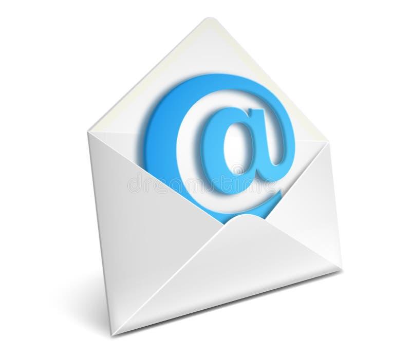 Het pictogram van de envelop royalty-vrije illustratie