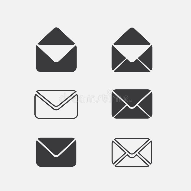 Het Pictogram van de enveloppost vector illustratie
