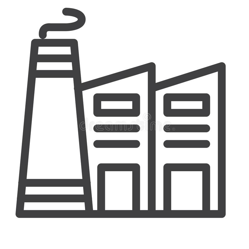 Het pictogram van de fabriekslijn stock illustratie