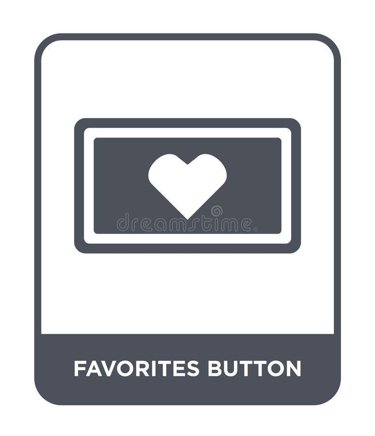 het pictogram van de favorietenknoop in in ontwerpstijl het pictogram van de favorietenknoop op witte achtergrond wordt geïsoleer vector illustratie