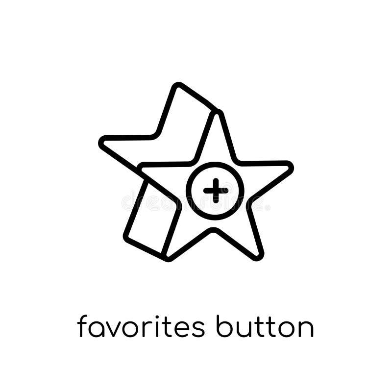 Het pictogram van de favorietenknoop van Webnavigation-inzameling stock illustratie