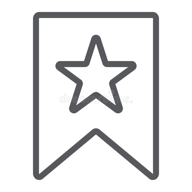 Het pictogram van de favorietenlijn, teken en favoriet, referentie met sterteken, vectorafbeeldingen, een lineair patroon op een  royalty-vrije illustratie