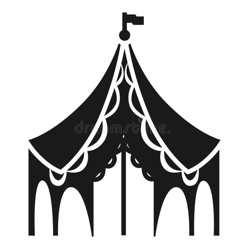 Het pictogram van de festivaltent, eenvoudige stijl royalty-vrije illustratie