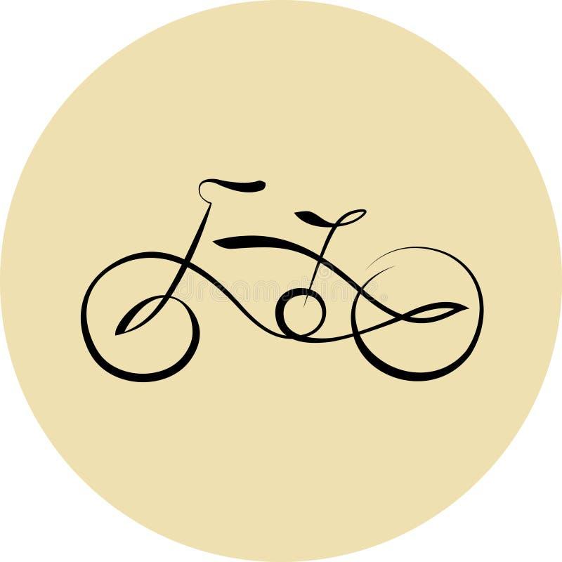 Het pictogram van de fietslijn royalty-vrije illustratie