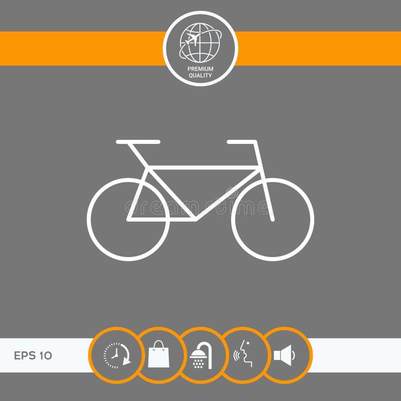 Het pictogram van de fietslijn vector illustratie