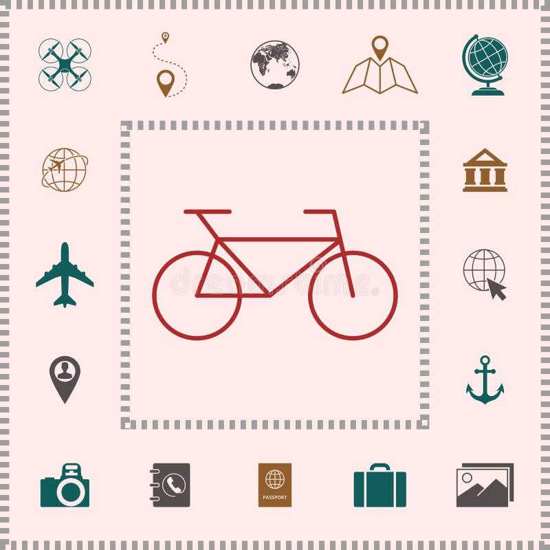 Het pictogram van de fietslijn stock illustratie