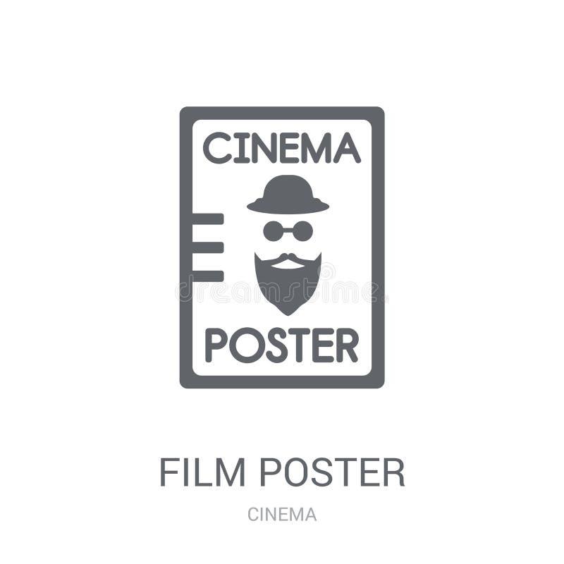 Het pictogram van de filmaffiche In het embleemconcept van de Filmaffiche op witte backg royalty-vrije illustratie