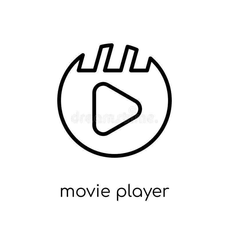 Het pictogram van de filmspeler  royalty-vrije illustratie