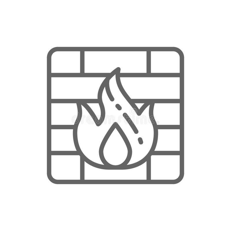 Het pictogram van de firewalllijn stock illustratie