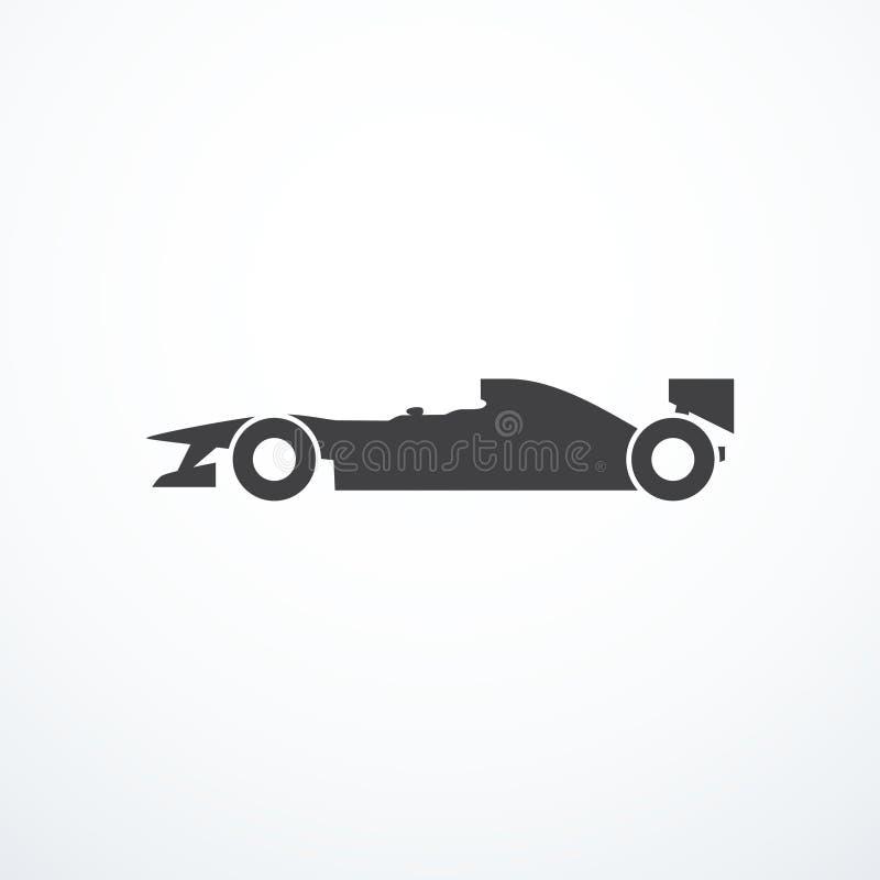 Het pictogram van de formuleauto royalty-vrije illustratie
