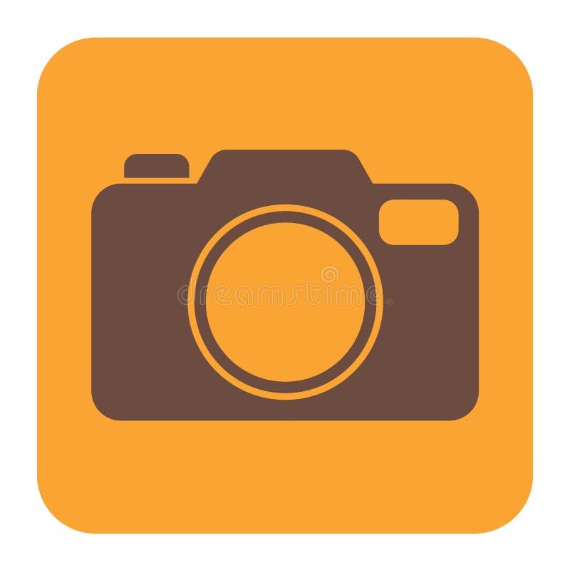 Het pictogram van de fotocamera stock illustratie