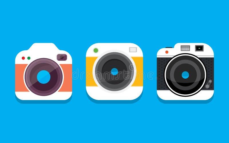 Het pictogram van de fotocamera stock afbeeldingen