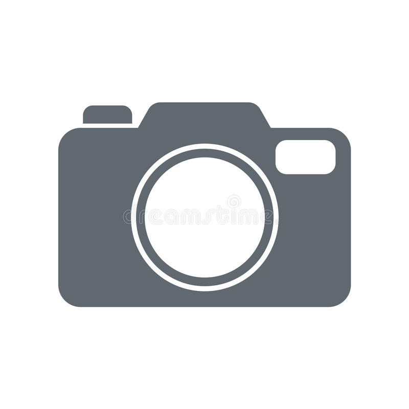Het pictogram van de fotocamera vector illustratie