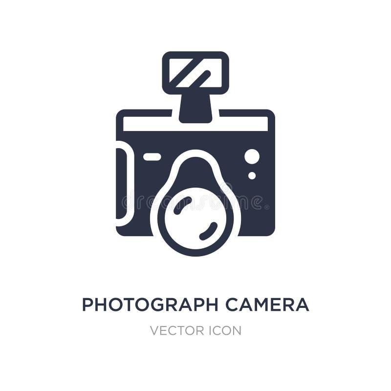 het pictogram van de fotocamera op witte achtergrond Eenvoudige elementenillustratie van Technologieconcept royalty-vrije illustratie