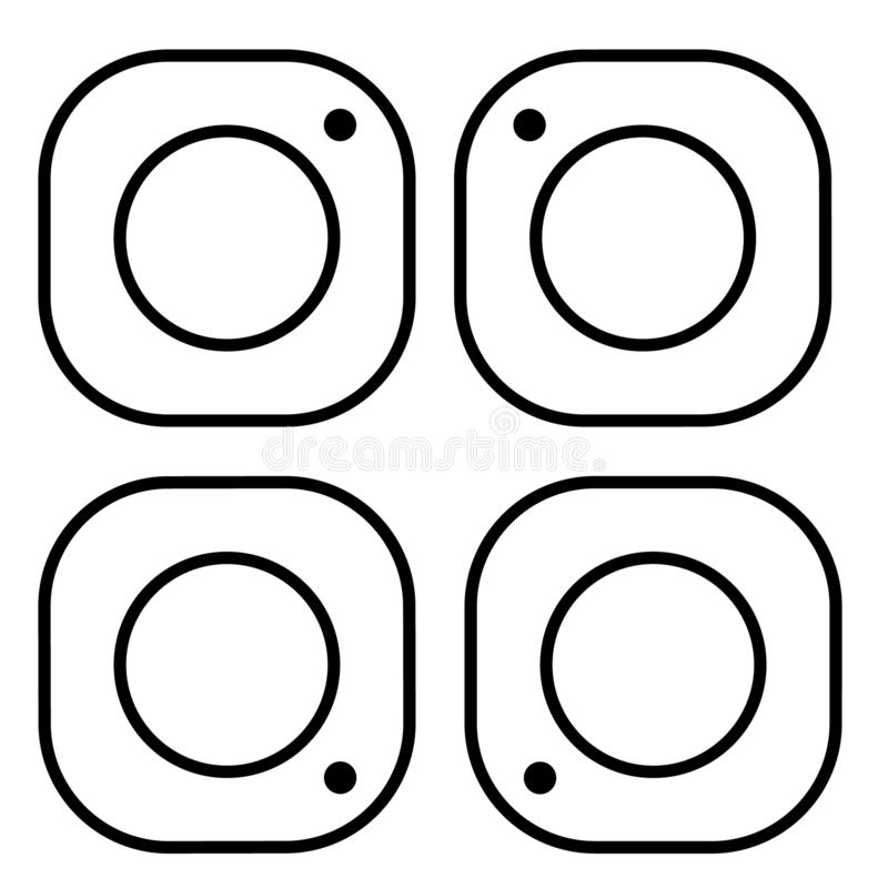 Het pictogram van de fotocamera Sociaal media pictogram Instagrampictogram Instagramembleem stock illustratie