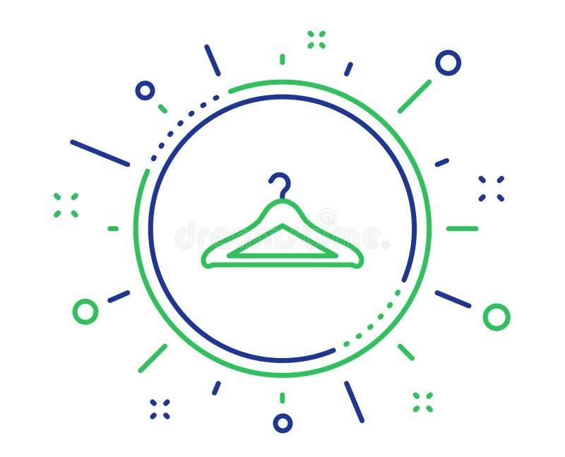Het pictogram van de garderobelijn Het teken van de hangergarderobe Vector royalty-vrije illustratie