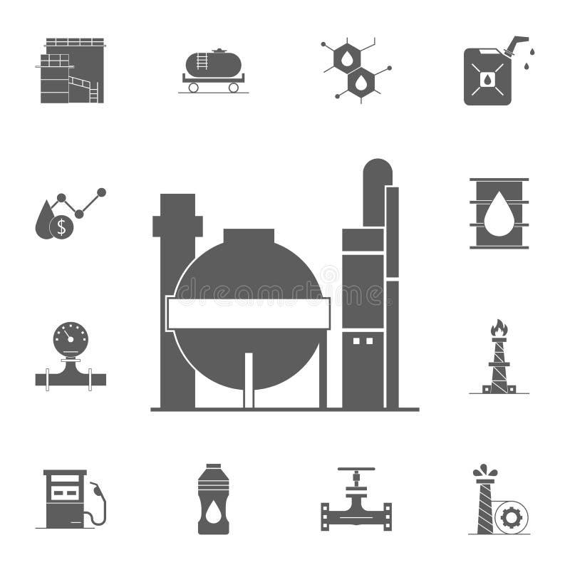 het pictogram van de gasopslag Gedetailleerde reeks Oliepictogrammen Grafisch het ontwerpteken van de premiekwaliteit Één van de  vector illustratie