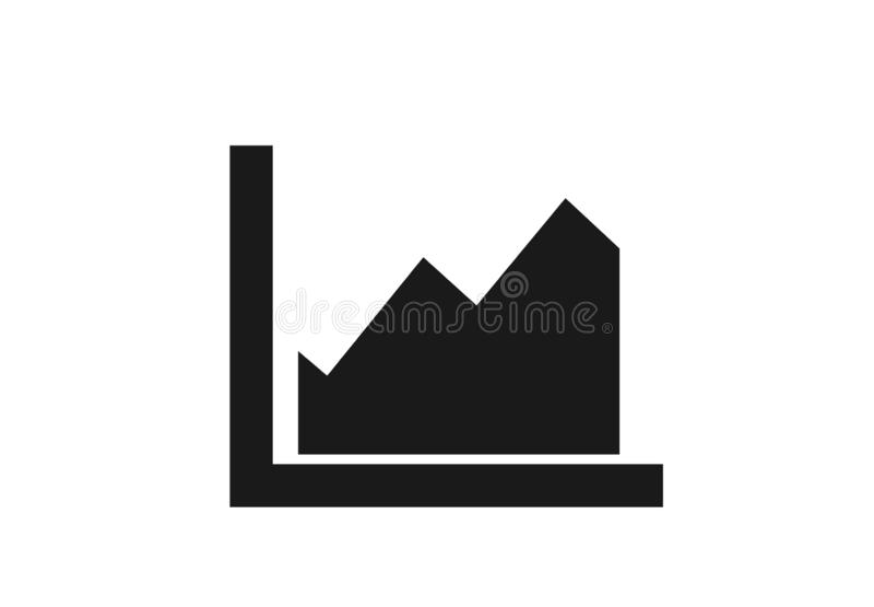 Het pictogram van de gebiedengrafiek vectordiagramteken in eenvoudige stijl vector illustratie
