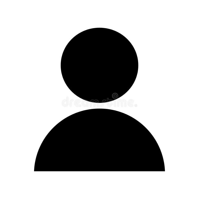 Het pictogram van de gebruikersmens royalty-vrije illustratie