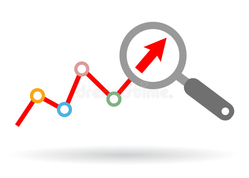 Het pictogram van de gegevensanalyse vector illustratie