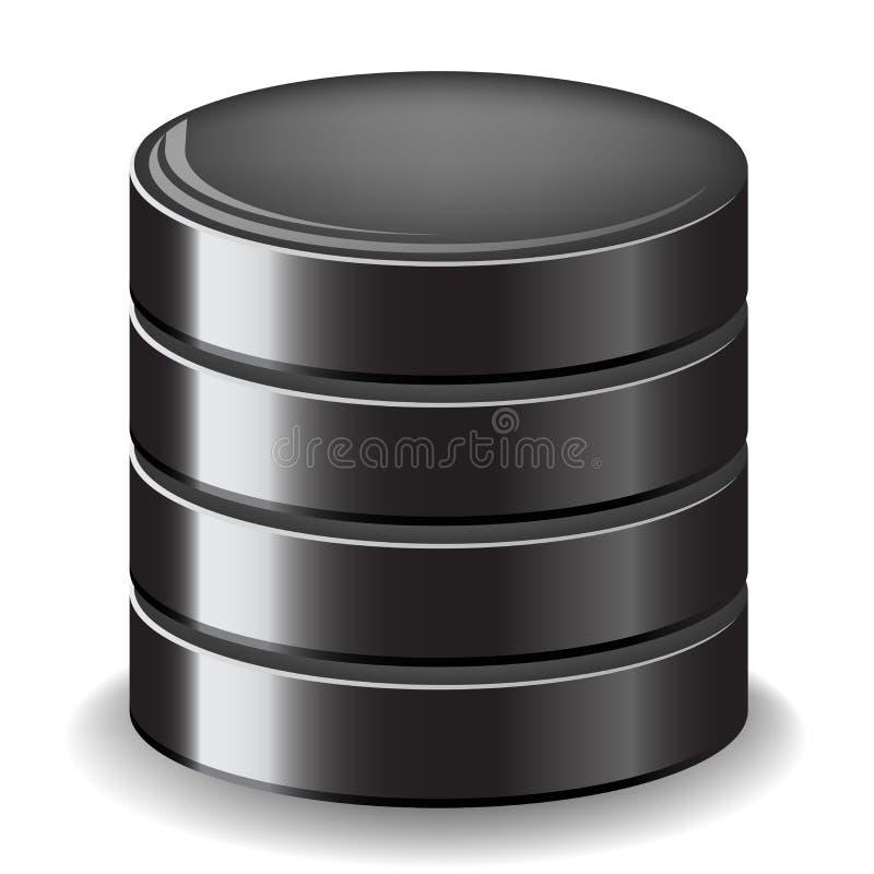 Het pictogram van de gegevensbestandserver stock illustratie