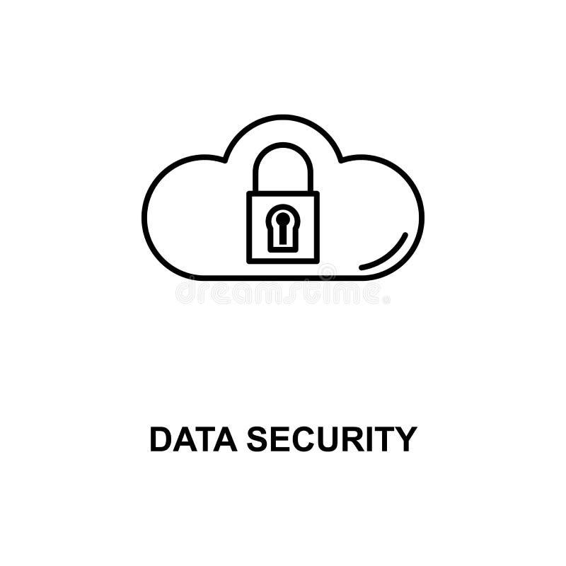 Het pictogram van de gegevensbeveiliginglijn vector illustratie