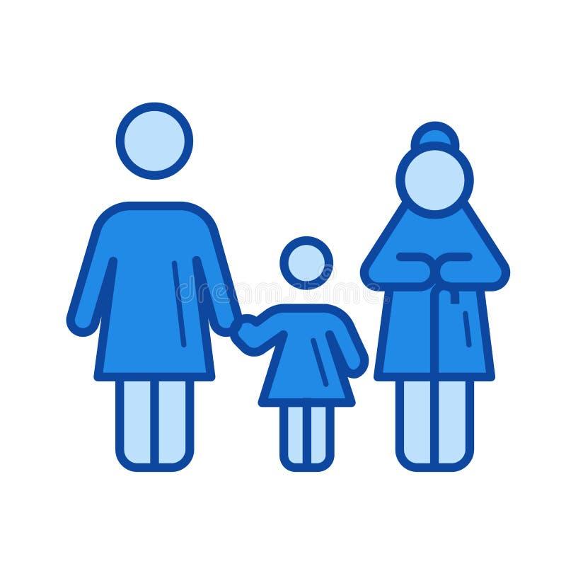 Het pictogram van de generatielijn stock illustratie
