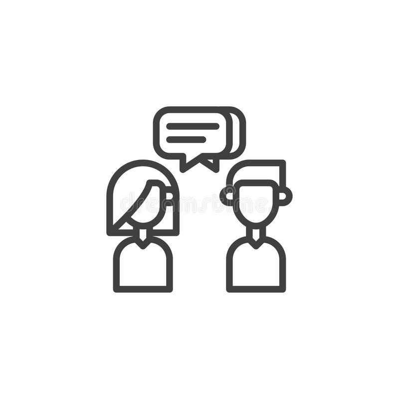 Het pictogram van de gesprekslijn vector illustratie