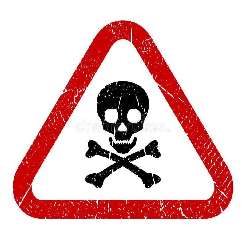 Het pictogram van de gevaarsschedel vector illustratie