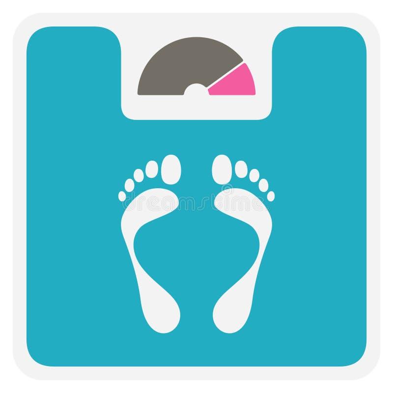 Het pictogram van de gewichtsschaal stock illustratie