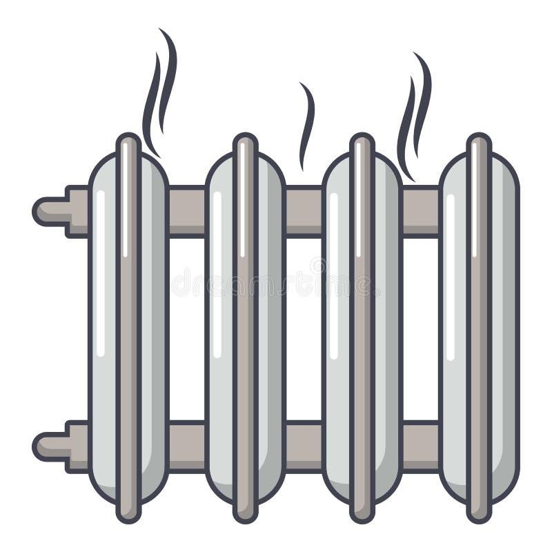 Het pictogram van de gietijzerbatterij, beeldverhaalstijl vector illustratie