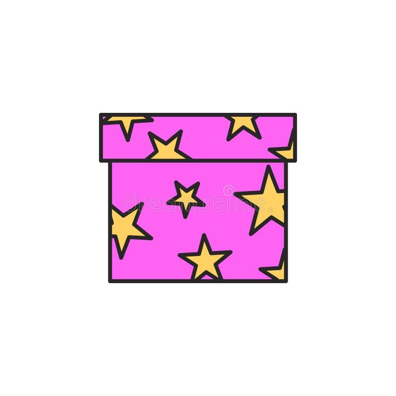 Het pictogram van de giftdoos Element van magisch pictogram voor mobiele concept en webtoepassingen Het de doospictogram van de k stock illustratie