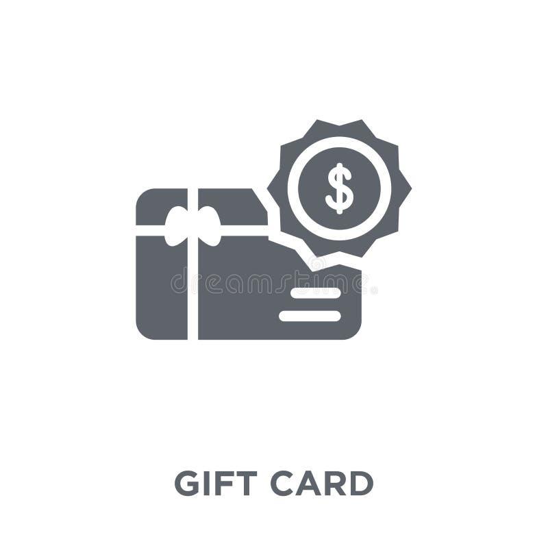 Het pictogram van de giftkaart van Elektronische handelinzameling vector illustratie