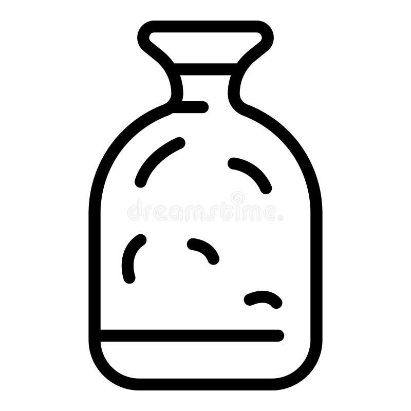 Het pictogram van de glaskruik, overzichtsstijl royalty-vrije illustratie