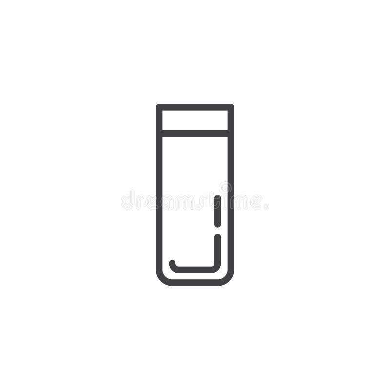 Het pictogram van de het glaslijn van de alcoholdrank royalty-vrije illustratie