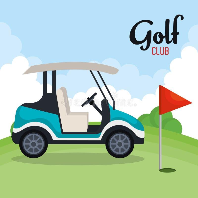 Het pictogram van de golfclubsport vector illustratie