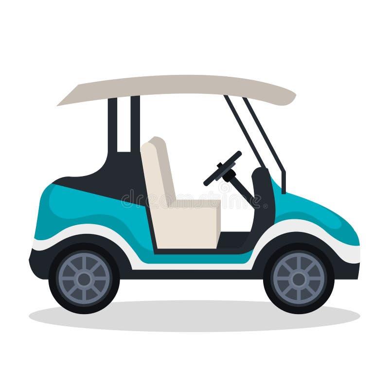 Het pictogram van de golfkar royalty-vrije illustratie