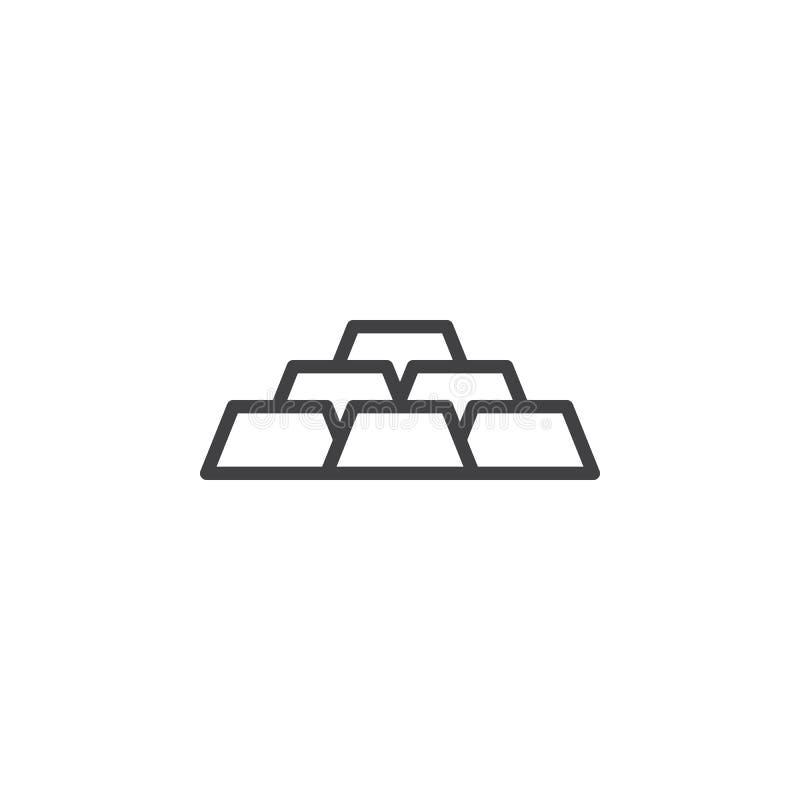 Het pictogram van de gouden passementlijn royalty-vrije illustratie