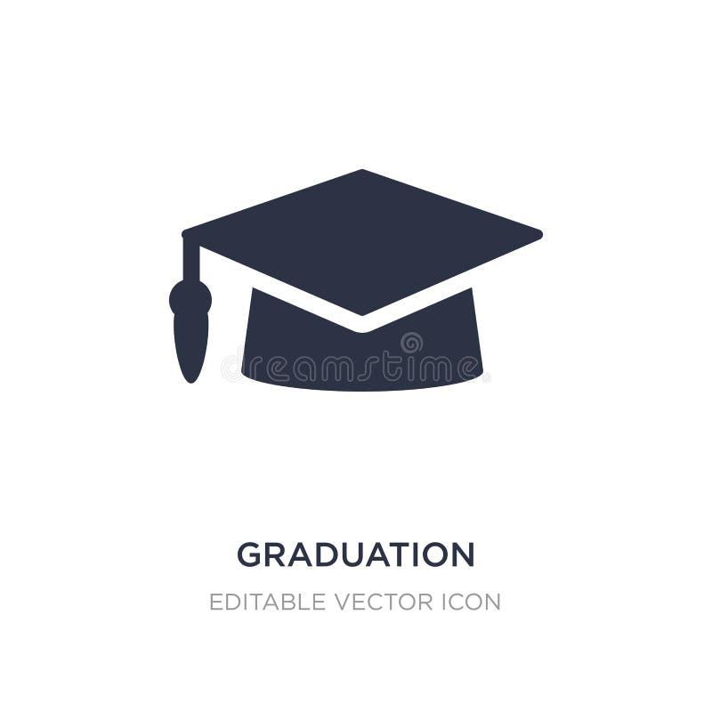 het pictogram van de graduatiebaret op witte achtergrond Eenvoudige elementenillustratie van Onderwijsconcept royalty-vrije illustratie