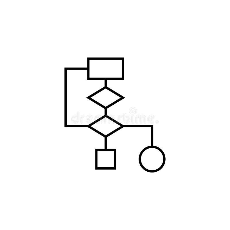 Het pictogram van het de grafiekoverzicht van algoritmefinanciën Element van het pictogram van de financiënillustratie de tekens, vector illustratie