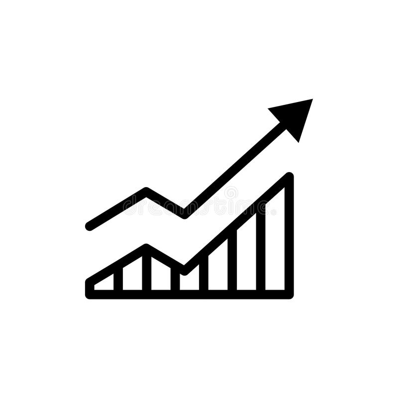 Het pictogram van de de groeilijn vector illustratie