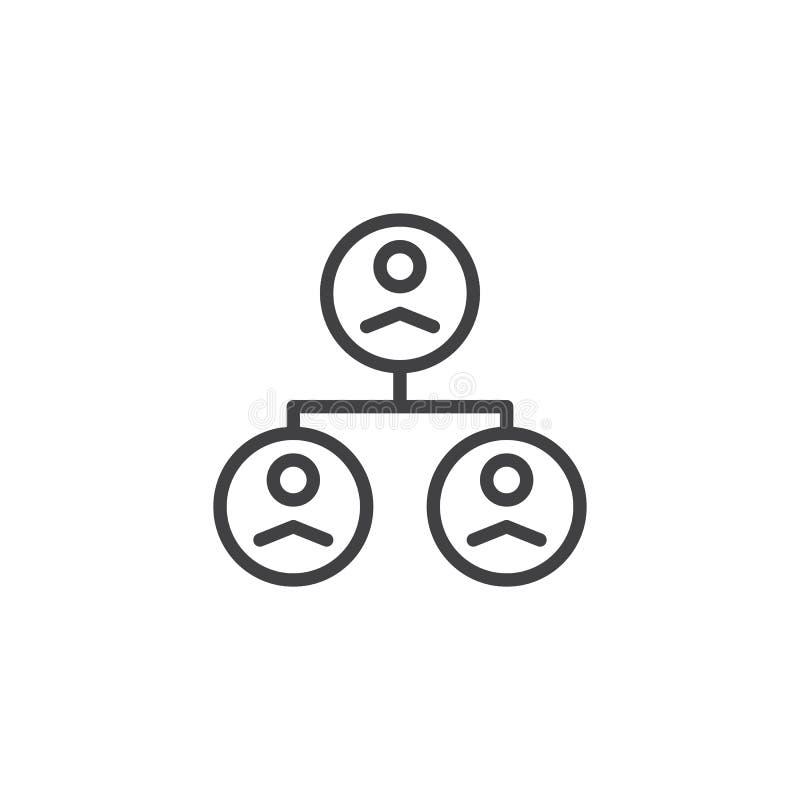Het pictogram van het de groepsoverzicht van de mensenorganisatie stock illustratie