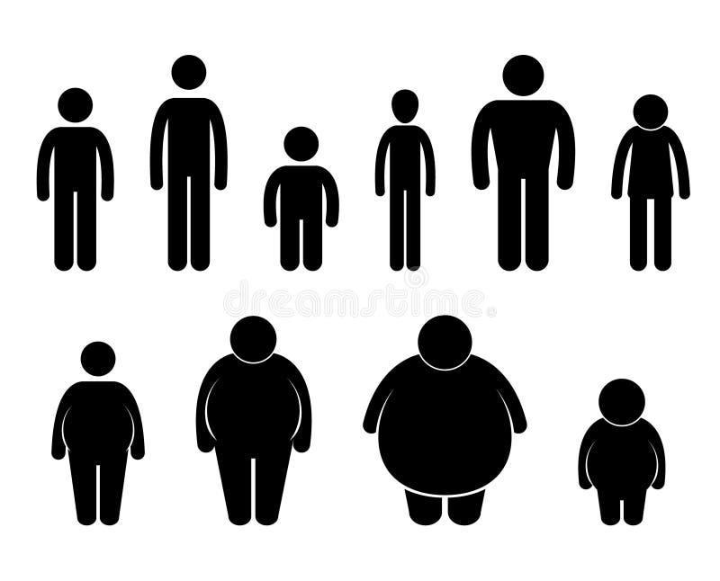 Het Pictogram van de Grootte van het Cijfer van het Lichaam van de mens