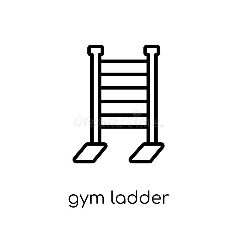 het pictogram van de gymnastiekladder In moderne vlakke lineaire vectorico van de gymnastiekladder royalty-vrije illustratie