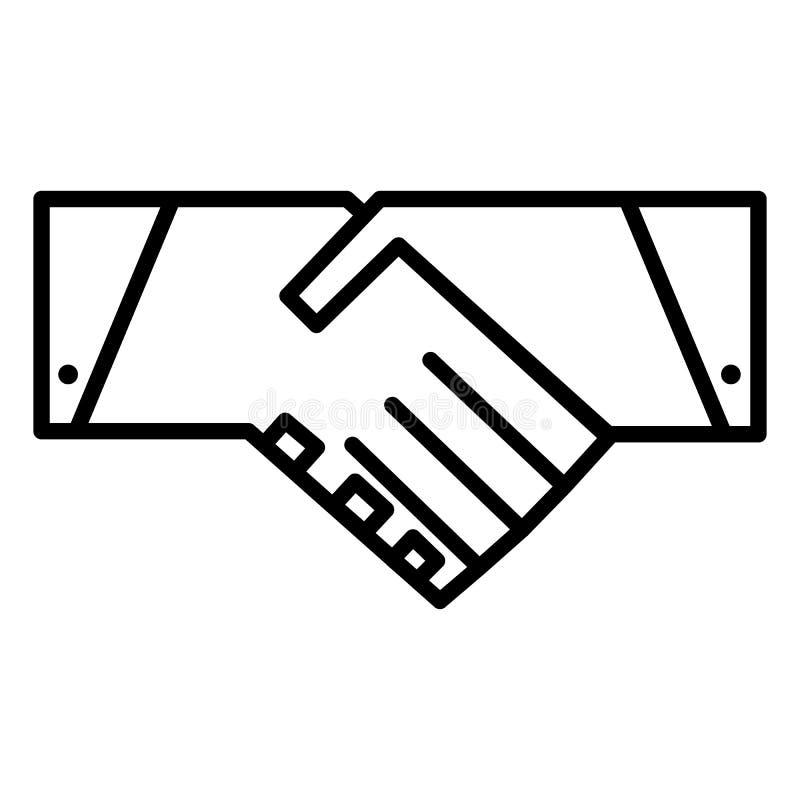 Het pictogram van de handdruklijn Vector symbool vector illustratie