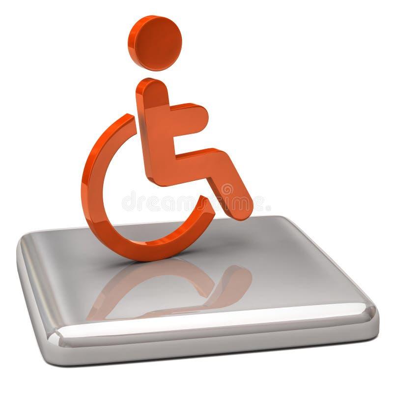 Het pictogram van de handicap stock illustratie