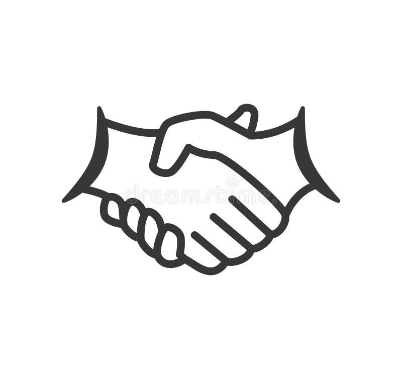Het pictogram van de handschok Hulpontwerp Grafische vector vector illustratie